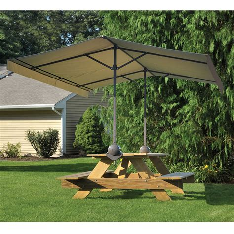 Picnic Table Canopy by The Cl On Picnic Table Canopy Hammacher Schlemmer