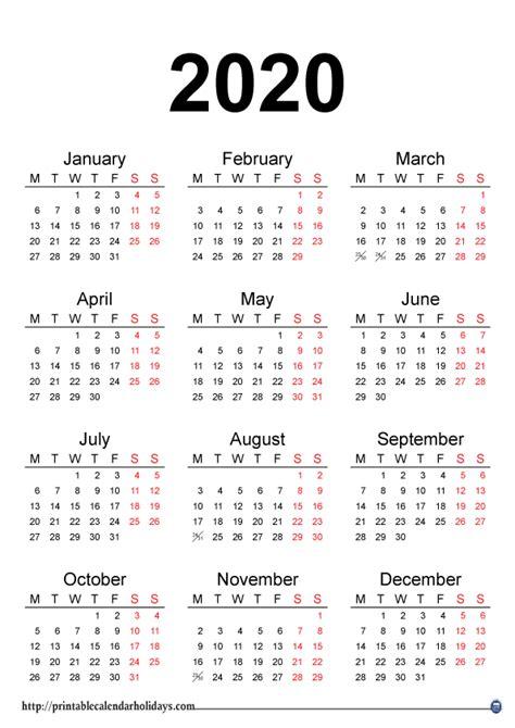 yearly calendar printable printable calendar