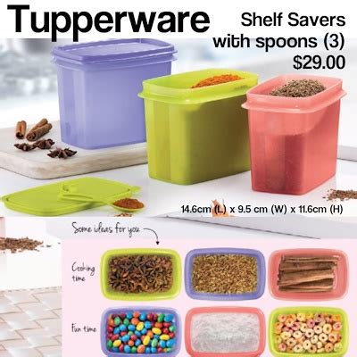 Tuperware Guava New Shelf Saver Promo qoo10 tupperware shelf savers with spoons kitchen dining