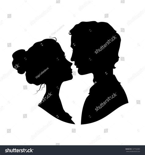 imagenes blanco y negro siluetas siluetas de pareja enamorada negro contra fondo blanco