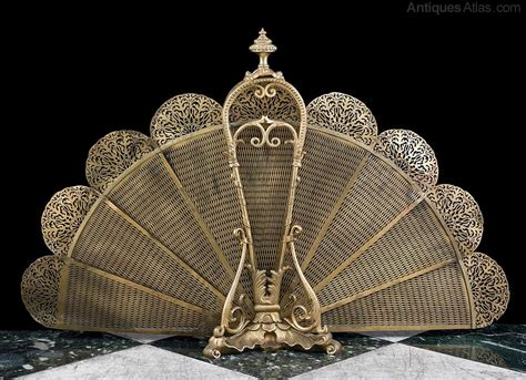 fan shaped fireplace screen antiques atlas a gilt brass and fan shaped fire screen