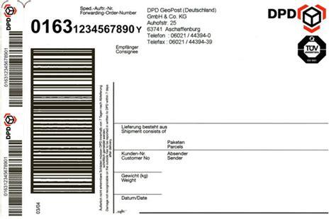Gls Paketaufkleber Drucken by Erkl 228 Rungen Zum Dpd Paketaufkleber