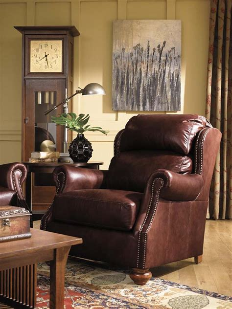 stickley leather club chairs traditions  home