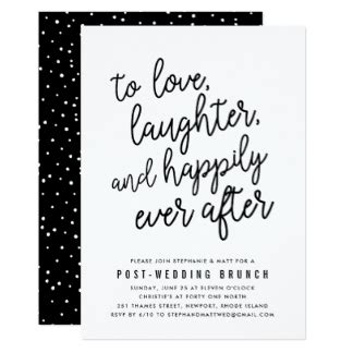 wedding brunch invitation wording day after post wedding invitations announcements zazzle
