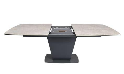 modrest curtis modern grey ceramic extendable dining table