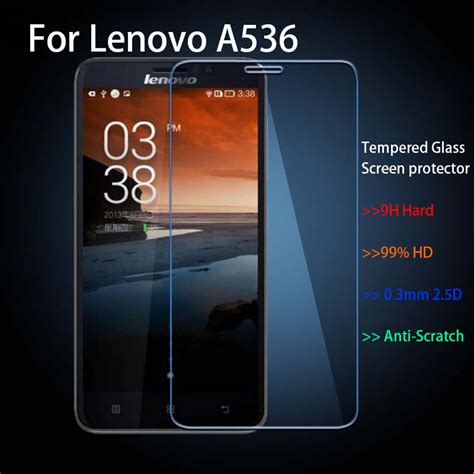 Tempered Glass Lenovo A536 for lenovo a536 explosion proof 0 3mm 2 5d tempered glass guard screen protector retail