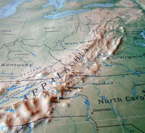appalachian mountains on us map appalachian mountains map images search