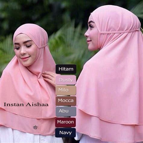 Jilbab Non Pad khimar aishaa khimar rubiah non pad baju gamis
