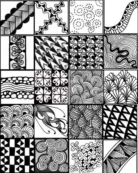 easy zentangle patterns printable free zentangle patterns coloring pages