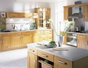 Oak Kitchen Designs Shaker Light Oak Kitchen Design Stylehomes Net