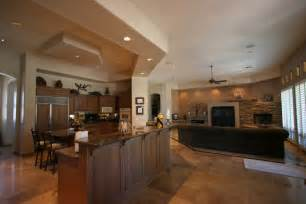 open floor plan kitchen living room knipp luxury 187 ultimate custom homes