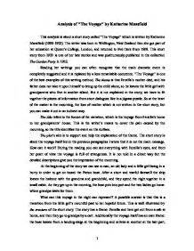 The Voyage Katherine Mansfield Essay by Analysis Of The Voyage By Katherine Mansfield Gcse