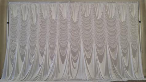 backdrop drapery ready to ship 15 w x 10 l white austrian style