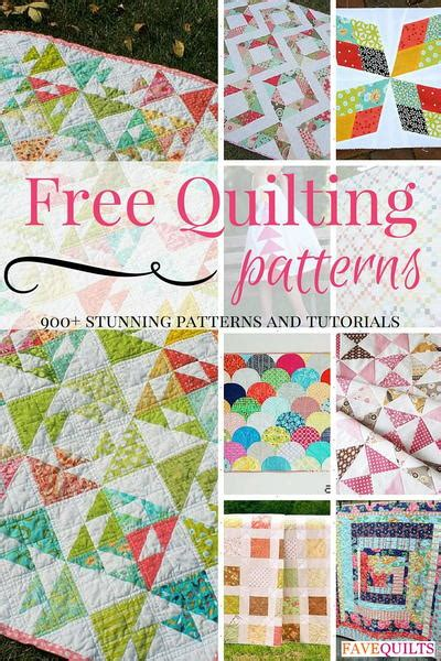 Free Patchwork Patterns - 21 simple quilt patterns quilting for beginners