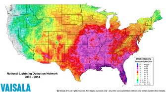us lightning forecast map severe weather awareness week lightning