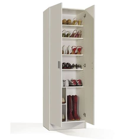 Armoire A Chaussure by Multiusos Armoire 224 Chaussures Blanc Achat Vente