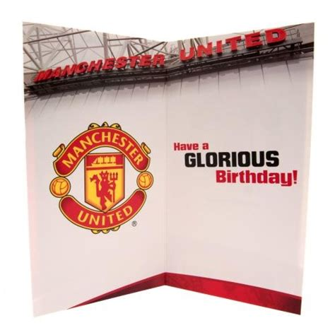 Manchester United Birthday Card Template by Manchester United Football Club Official Birthday Card