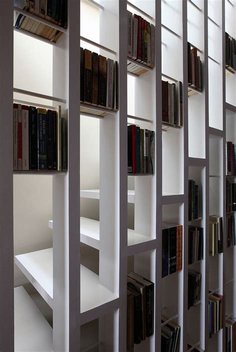 17 best ideas about staircase bookshelf on