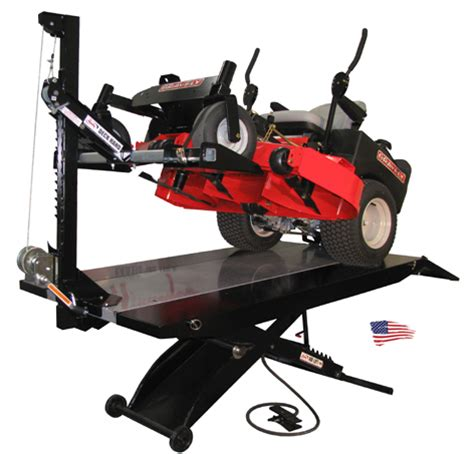 garden tractor lift table commercial lawn mower lifts pictures to pin on