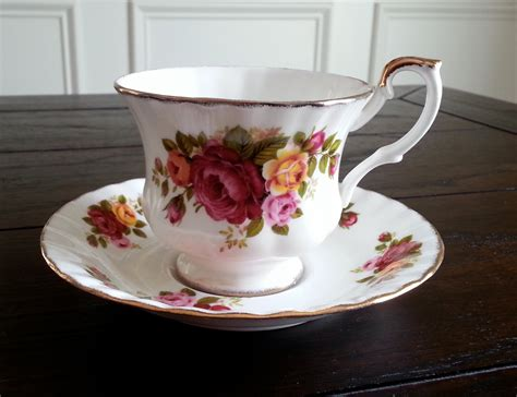 China Cottage by Vintage Bone China Cottage Pattern Tea Cup And