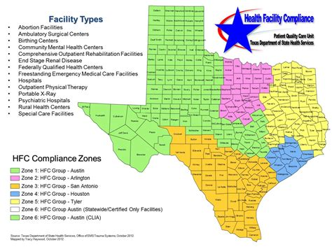 texas state map pdf compliance zones health facility compliance