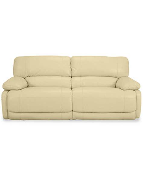 nina sofa nina leather dual power reclining sofa furniture macy s