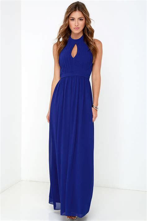 Beautiful Royal Blue Dress   Maxi Dress   Halter Dress   $86.00