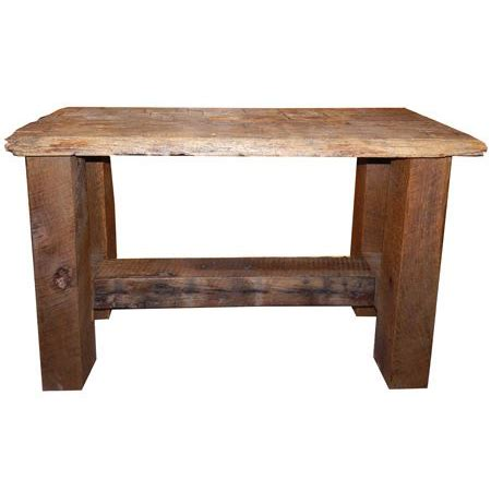 barnwood sofa table barnwood hewn sofa table amish crafted furniture