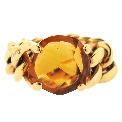 Just A With This Quartz Ring From Lola by Pomellato Lola Gold Madeira Quartz Ring For Sale At 1stdibs