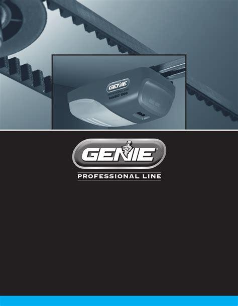 genie garage door openers manual genie garage door opener 3024 user guide manualsonline