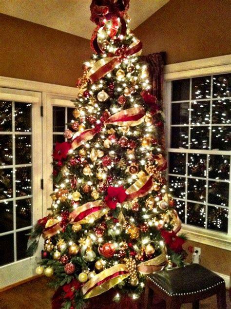 decoracion navidad rojo  dorado  como organizar