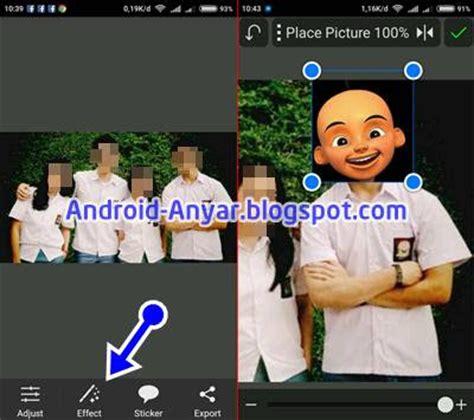 cara edit foto fisheye di android cara edit foto kartun kepala upin ipin lengkap di android