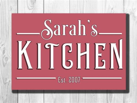 Custom Kitchen Signs by Personalized Kitchen Sign Classic Metal Signs