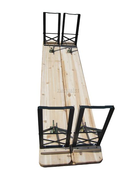 wooden pub benches wooden folding beer table bench set trestle party pub