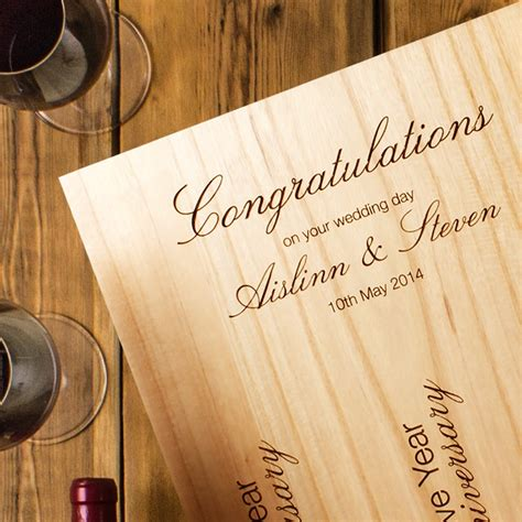 Wedding Wine Box Uk by 3 Bottle Engraved Wedding Wine Box Hers