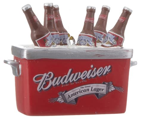 budweiser cooler christmas ornament his and hers
