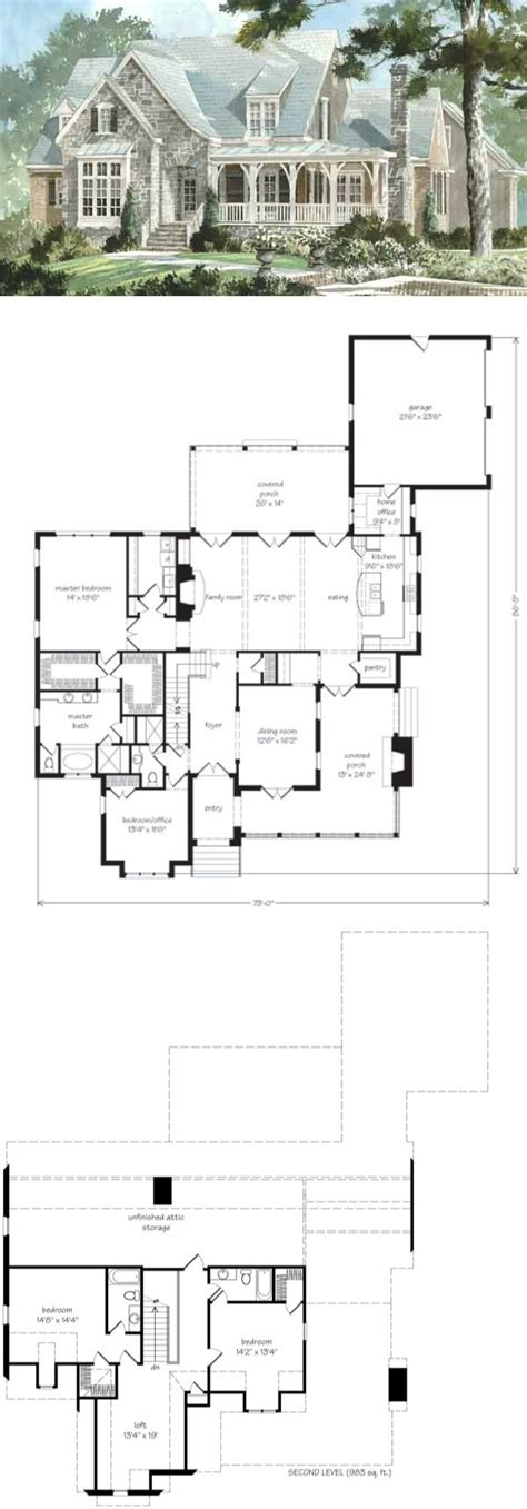 southern living house plans with basements top 25 best cottage floor plans ideas on