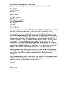 Worker Cover Letter by Social Work Cover Letter Sle Sle Cover Letters
