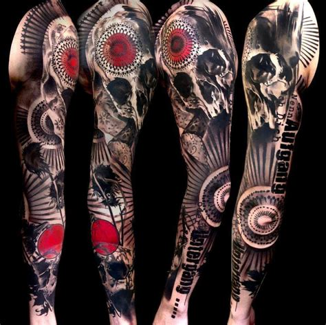 skull sleeve tattoos designs skull sleeve