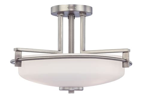 quoizel ty1716an taylor contemporary semi flush mount