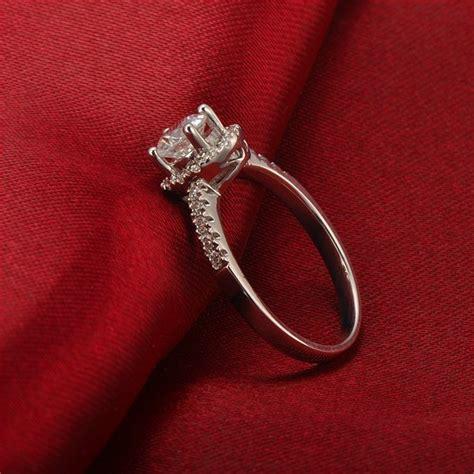 luxurious halo cheap engagement ring 0 50 carat cut
