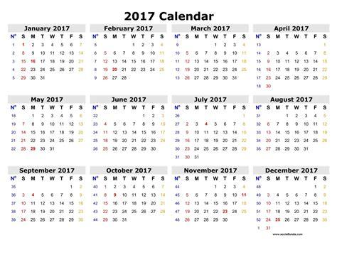 desktop calendar 2017 template social funda