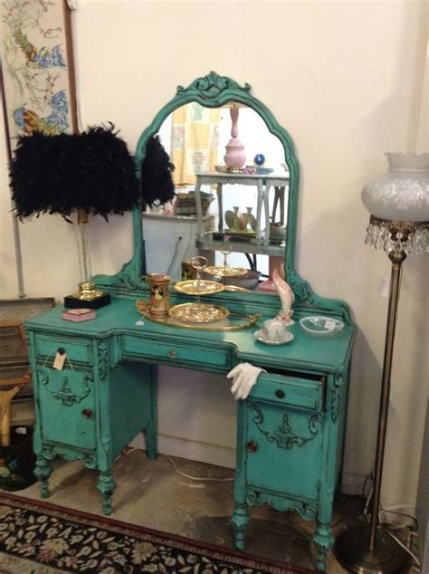 Teal Bathroom Vanity 1930 S Turquoise Teal Vanity I Did It Pinterest Turquoise Ls And Vanities