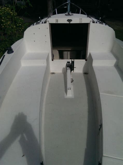 oday mariner sailboat trailer  sails centerboard swing keel offer oday mariner