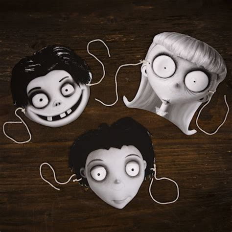 printable pictures of halloween characters frankenweenie character masks disney family