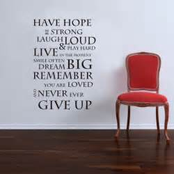 have hope inspirational wall sticker quote saying wall inspirational wall art stickers