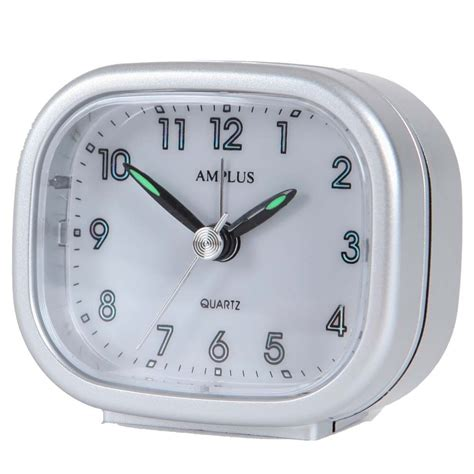 small travel sweep silent movement beep alarm clock with snooze pt182 mix colour ebay