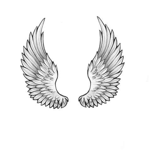 Black And Grey Two Wings Tattoo Design By Anastasiya