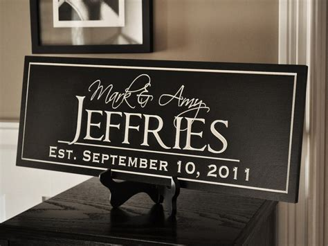 personalized family name sign plaque established family sign