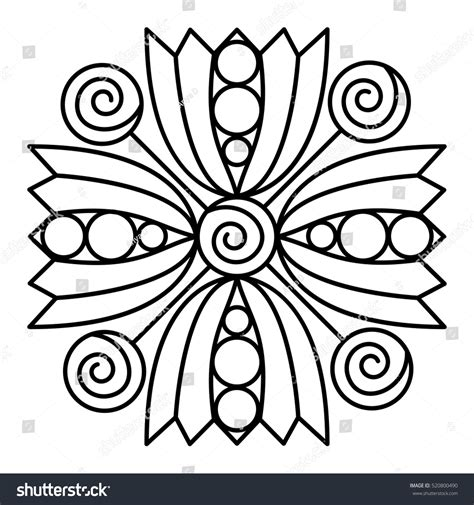flowers for beginners an coloring book with easy and relaxing coloring pages gift for beginners books simple flower mandala pattern coloring book stock vector